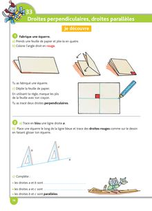 Cours géométrie niveau CE1 / CE2