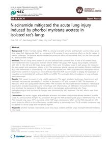 Niacinamide mitigated the acute lung injury induced by phorbol myristate acetate in isolated rat