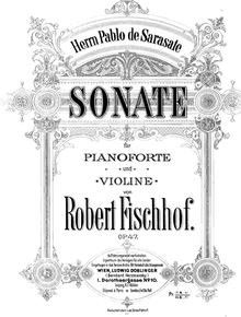 Partition complète, violon Sonata No.1, Op.47, A major, Fischhof, Robert