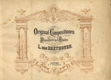 Partition complète, Eight Variations en C major on a Theme by compter Waldstein pour Piano, Four mains WoO 67 par Ludwig van Beethoven