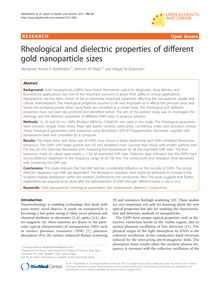 Rheological and dielectric properties of different gold nanoparticle sizes