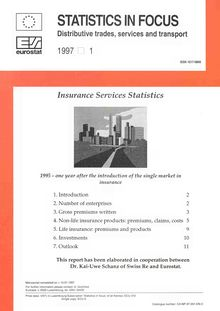 Insurance services statistics