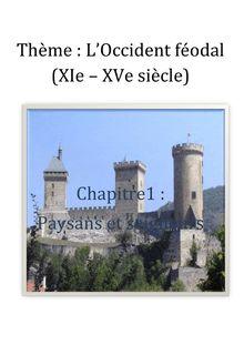 Chapitre : paysans et seigneurs - histoire 5eme