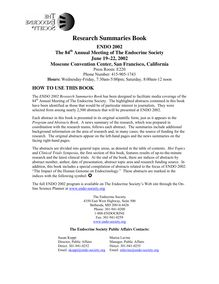 Research Summaries Book