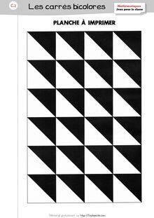 Jeux pour la classe – Les carrés bicolores