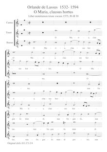 Partition complète (notated pitch), O Maria, clausus hortus