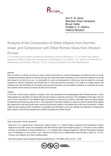 Analysis of the Composition of Glass Objects from Qumrân, Israel, and Comparison with Other Roman Glass from Western Europe - article ; n°1 ; vol.33, pg 113-121