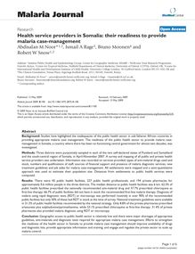 Health service providers in Somalia: their readiness to provide malaria case-management