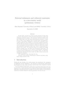 External imbalances and collateral constraints in a two country world preliminary version