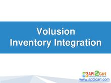 Volusion Inventory Integration