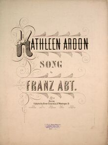 Partition complète, Kathleen Aroon, G  major, Abt, Franz