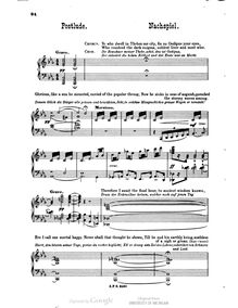 Partition Postlude, Oedipus Tyrannus, Op.35, Paine, John Knowles