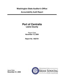 Accountability Audit Report Port of Centralia Lewis County