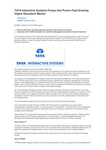 TATA Interactive Systems Forays Into Pune
