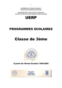 Programme Educatif Madagascar 3ème