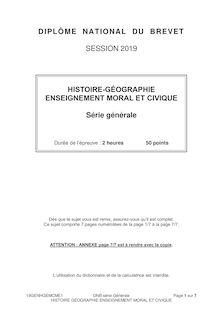 Brevet histoire géographie série générale