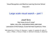 Large scale visual search part
