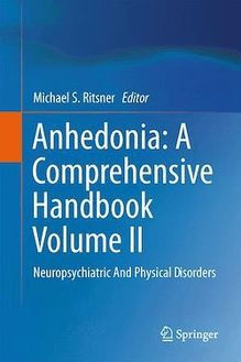 Anhedonia: A Comprehensive Handbook Volume II