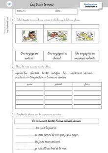 Evaluations CP/CE1 – 2011-2012 - Céline G Evaluation trois temps
