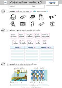 Orthographe / Phonologie CE1 – Période 2 - Les fiches d'exercices et d'apprentissage de mots de la période 2