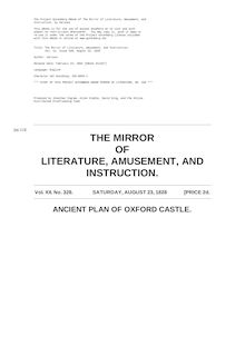 The Mirror of Literature, Amusement, and Instruction - Volume 12, No. 328, August 23, 1828