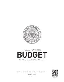 Fiscal year 2013, Budget of the U.S Government
