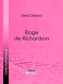 Éloge de Richardson de Denis Diderot, Ligaran - fiche descriptive