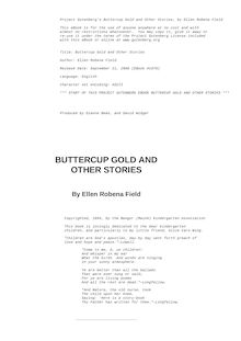 Buttercup Gold, and other stories