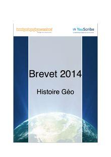 Corrigé brevet 2014 - Histoire Géographie Education civique