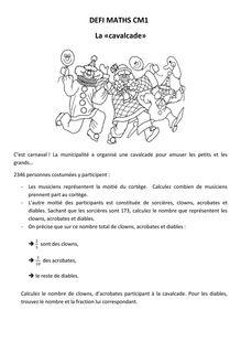 Maths DEFI CM1