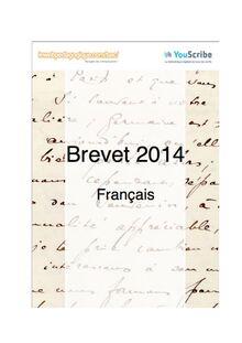 Corrigés 2014 du brevet de français