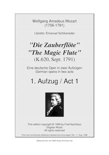 Partition Act I, No., Introduction, Die Zauberflöte, The Magic Flute