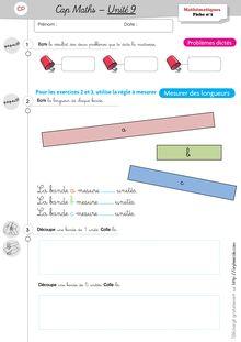 Mathématiques CP / CE1 – Cap Maths, période 4 (unités 9 et 10) - Unité 9 – CP Unité 9 Exercices