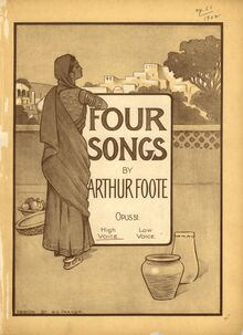 Partition Cover Page (color), 4 chansons, Foote, Arthur