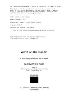 Adrift on the Pacific - A Boys [sic] Story of the Sea and its Perils