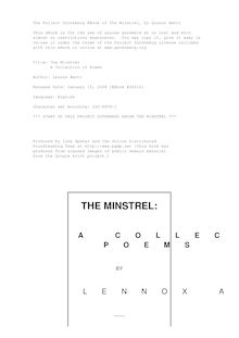 The Minstrel - A Collection of Poems