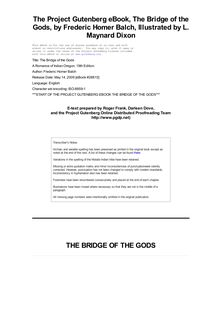 The Bridge of the Gods - A Romance of Indian Oregon. 19th Edition.