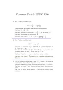 FESIC 2000 concours commun post bac s