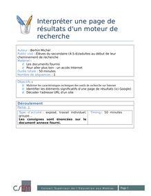 Interpréter une page de résultats d'un moteur de recherche