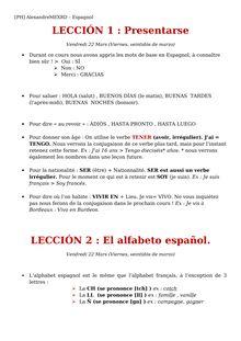 Leçon de base d'espagnol