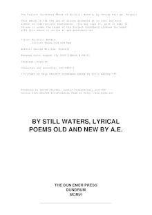 By Still Waters - Lyrical Poems Old and New