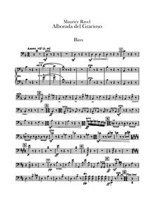 Partition Basses, Miroirs, Ravel, Maurice
