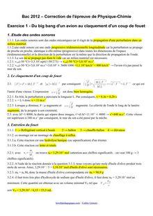 Bac 2012 S Physique Chimie obligatoire Corrige