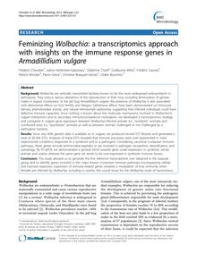 Feminizing Wolbachia: a transcriptomics approach with insights on the immune response genes in Armadillidium vulgare