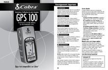 Notice GPS Cobra  GPS 100