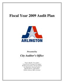 Fiscal Year 2009 Audit Plan