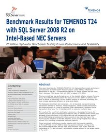 Benchmark Results for TEMENOS T24 with SQL Server 2008 R2 on ...