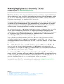 Photoshop Clipping Path Service for Image Enhance