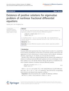 Existence of positive solutions for eigenvalue problem of nonlinear fractional differential equations