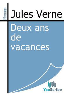 Deux ans de vacances de Jules Verne - fiche descriptive
